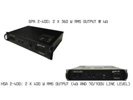 The New GPA2-400 and HSA2-400 amplifiers available