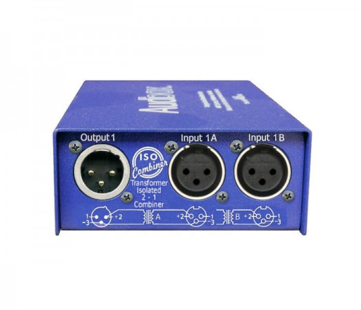 sumator-semnal-audio-2-in-1-out-iso-combiner-arx