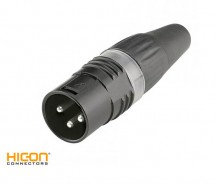 XLR Connector HI-X3CM-BLK HiCon Sommer