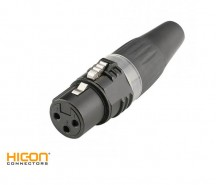 XLR Connector HI-X3CF-BLK HiCon Sommer
